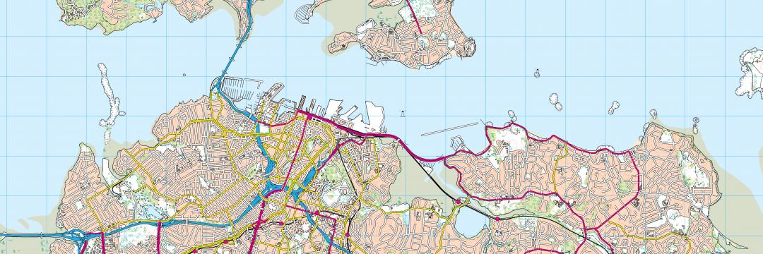 Landranger Map of Auckland