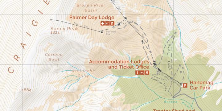 Broken River Topographic Map